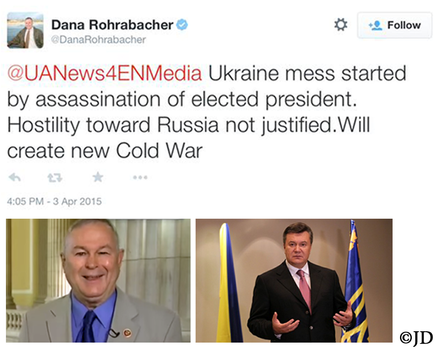 DANA ROHRABACHER AND VIKROT YANUKOVYCH