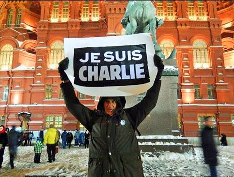 JESUISCHARLIE HEBDO PROTESTER RUSSIA FACES 5 YEARS