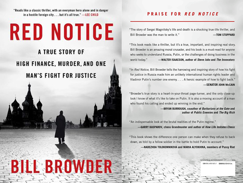 "Bill Browder's ""Red Notice"" exposes Putin's Russia as a mafia state"